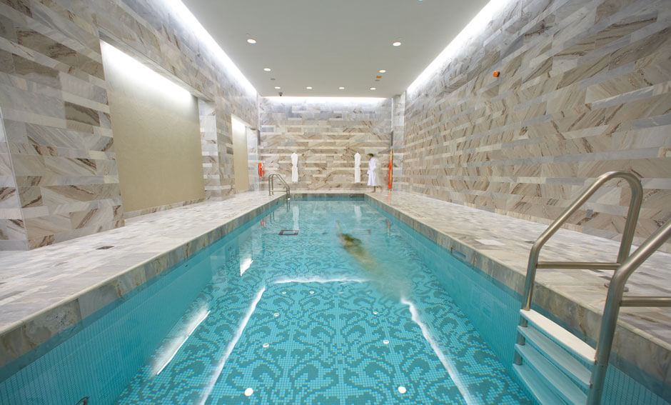 Hazelton Hotel indoor lap pool