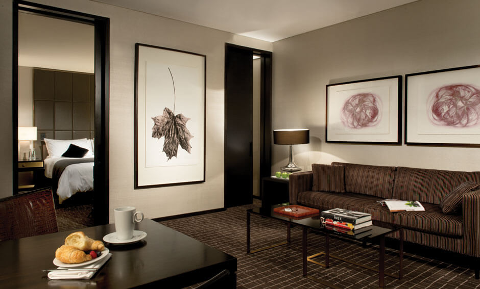 Hazelton Hotel suite living area