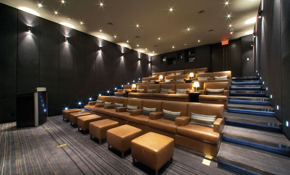 Hazelton Hotel silver screening room